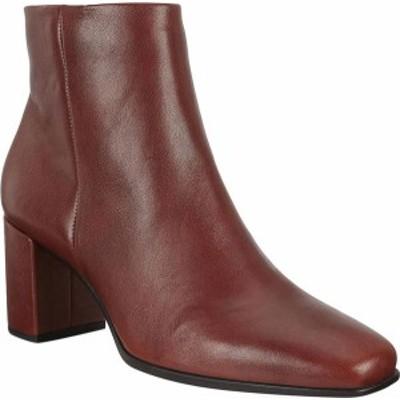 エコー レディース ブーツ・レインブーツ シューズ Women's ECCO Shape 60 Squared Ankle Bootie Cognac Calf Leather