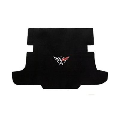 Velourtex 1 Piece Lloyd Mats Black Carpet Cargo Mat w/C5 Logo for Chevy Corvette (1997-2004)