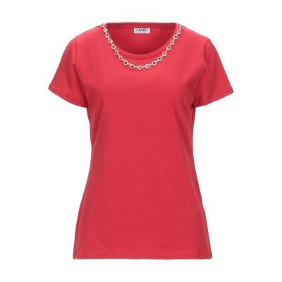 リュー ジョー LIU •JO T シャツ レッド L コットン 95% / ポリウレタン 5% T シャツ