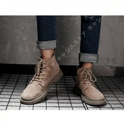 マーチンブーツ ワークブーツ メンズ 本革 レースアップ 大きいサイズ 歩きやすい 厚底 軽量 革靴 ショートブーツ 厚底ブーツ ハイカット マーティンブーツ