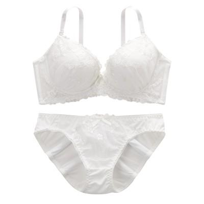 ワンカラーデザインブラジャー・ショーツセット(A85/LL) (ブラジャー&ショーツセット)Bras & Panties