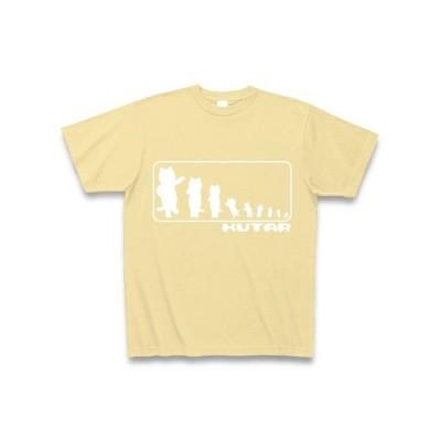 KUTAR Tシャツ Pure Color Print (ナチュラル)