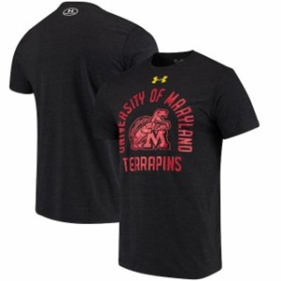 Under Armour アンダー アーマー スポーツ用品  Under Armour Maryland Terrapins Black Arched Throwback Logo Tri-Blend