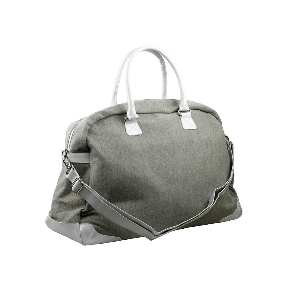 AMINAH 灰色-運動休閒 旅行袋【am-0210】