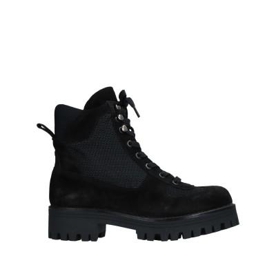 CUPLÉ ショートブーツ ブラック 40 革 / 紡績繊維 ショートブーツ