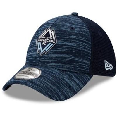 ニューエラ メンズ 帽子 アクセサリー Vancouver Whitecaps FC New Era On-Field Collection 39THIRTY Flex Hat Deep Sea Blue