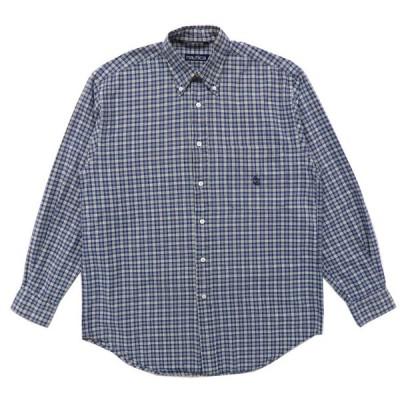 ノーティカ NAUTICA ボタンダウンシャツ チェック 長袖 ネイビーベース サイズ表記:M