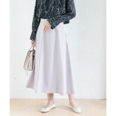 スカート 【WEB限定】カラーフレアースカート