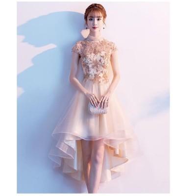 パーティードレス 10代 20代 30代 40代 ワンピース おしゃれ ウエディングドレス お呼ばれ ミモレ丈ドレス 卒業式 立ち襟 卒園式 キャバドレス 結婚式 成人式