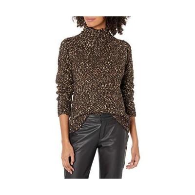 kensie Women's Twisted Boucle Sweater, Black Combo, Extra Small並行輸入品 送料無料