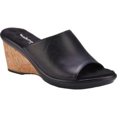ウォーキング クレードル Walking Cradles レディース サンダル・ミュール ウェッジソール シューズ・靴 Lynn Wedge Slide Black Morocca