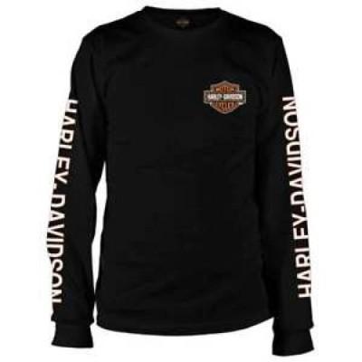 【お取り寄せ】ハーレーダビットソン メンズ Harley-Davidso<wbr/>n Bar & Shield Vietnam Veterans - Black Long-Sleeve T-shirt