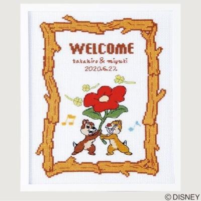 クロスステッチキット ウェルカムボード チップ&デール 7525 ディズニー 刺繍キット 日本製 オリムパス 手芸の山久