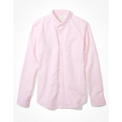 アメリカンイーグル シャツ メンズ American Eagle AE Slim Fit Oxford Button-Up Shirt Pink