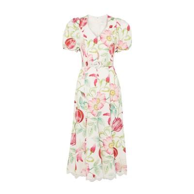 ANDREW GN 7分丈ワンピース・ドレス ホワイト 34 シルク 100% 7分丈ワンピース・ドレス
