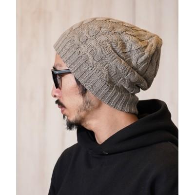 MIG&DEXI / CABLE BEANIE ケーブルビーニー / MIG&DEXI SELECT MEN 帽子 > ニットキャップ/ビーニー