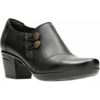 クラークス レディース ブーツ・レインブーツ シューズ Women's Clarks Emslie Warren Bootie Black Full Grain Leather
