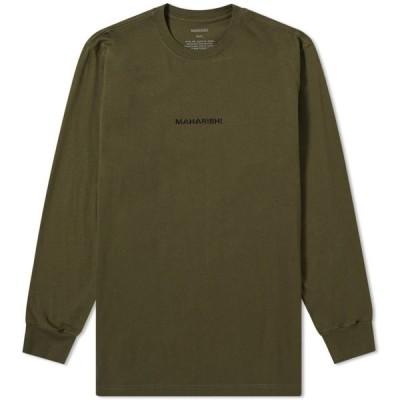 マハリシ Maharishi メンズ 長袖Tシャツ トップス Long Sleeve Classic Tee Mil Olive