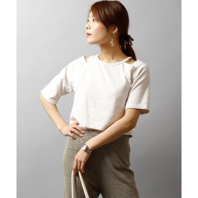 tシャツ Tシャツ 【BNS original】アシンメトリーデザインプルオーバー womens