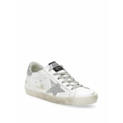 ゴールデングース レディース シューズ スニーカー Leather Swarovski Crystal Patch Sneakers