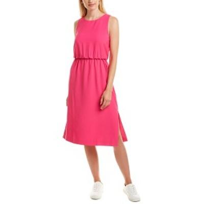 ジェイクルー レディース ワンピース トップス J.Crew Ring Midi Dress neon flamingo