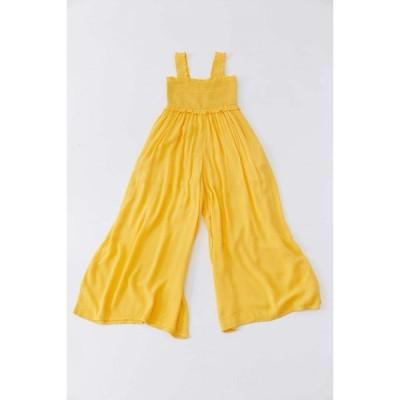 アーバンアウトフィッターズ Urban Outfitters レディース オールインワン ジャンプスーツ ワンピース・ドレス UO Olive Smocked Jumpsuit Yellow
