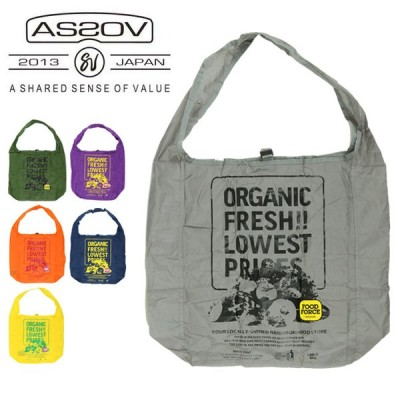 AS2OV アッソブ FOOD FORCE OREGON official eco bag L フードフォースオレゴンオフィシャルエコバッグ 152020 【カバン/コンパクト】【メール便・代引不可】