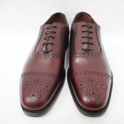 IDAe431582 ローク1880 靴 Strand Burgundy バーガンディー メンズ  #7 1/2F(約26cm)レザー Loak1880 未使用【質みなみ・到津店】