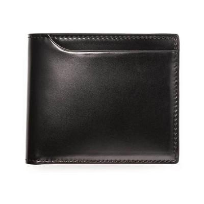 (ミラグロ) Milagro コードバン 二つ折り財布 ( 小銭入れあり ) oh-bp003 二つ折り 小銭 札入れ (本革 革 (ブラック)