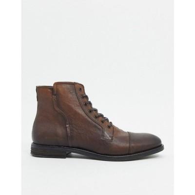 アルド ALDO メンズ ブーツ レースアップブーツ シューズ・靴 kaoreria leather lace up boots in brown ダークブラウン