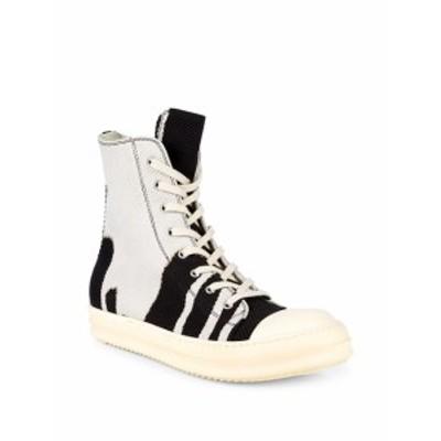 リックオーウェンズ メンズ スニーカー Woven High-Top Sneakers