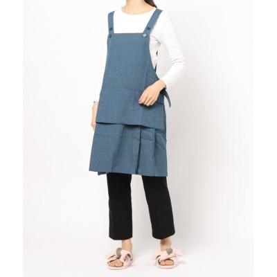 kana / フッ素加工樹脂加工 浮きポケット付き H型エプロン WOMEN 食器/キッチン > エプロン