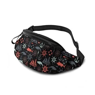 NHRINH Nautical Pattern Outdoor Sports Waist Pack for Men Women Cute Fashion Waist Bag Belt Bags
