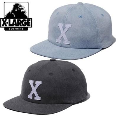 エクストララージ XLARGE WASHED DENIM 6PANEL CAP キャップ 帽子 ウォッシュ デニム ロゴ ゴリラ メンズ ブランド ストリート