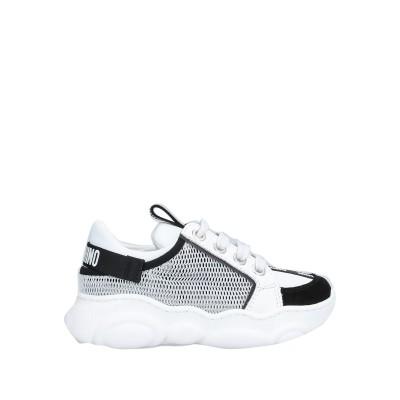 MOSCHINO TEEN スニーカー&テニスシューズ(ローカット) ホワイト 26 紡績繊維 / 革 スニーカー&テニスシューズ(ローカット)
