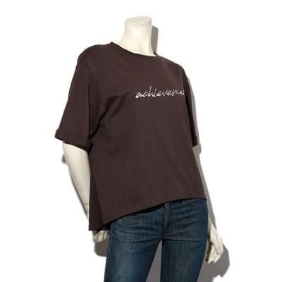 【中古】Maison de L'allure メゾン ドゥ ラリュール ハッポウロゴTシャツ F チャコール /◆☆ レディース 【ベクトル 古着】