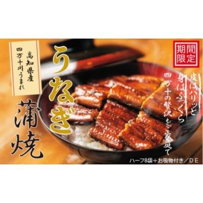 363.【期間限定】高知県産うなぎ蒲焼 ハーフ8袋+お吸物付き/DE
