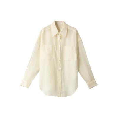 allureville アルアバイル ソフトオーガンジーシアーシャツ レディース オフホワイト 2