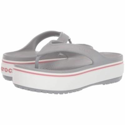 クロックス Crocs レディース ビーチサンダル シューズ・靴 Crocband Platform Flip Light Grey/Rose