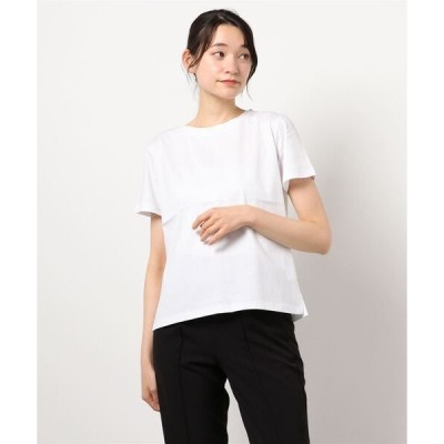 tシャツ Tシャツ 【微光沢コットン100%天竺きれいめのベーシック半袖Tシャツ】