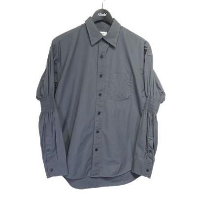 ALLEGE 2020SS「Gather Sleeve Shirt」ギャザースリーブシャツ グレー サイズ:2 (栄店) 201108
