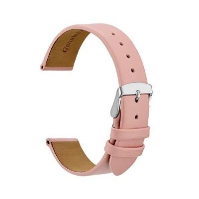WOCCI 腕時計 14mm 16mm 18mm 20mm 腕時計バンド エレガントな本革交換用ストラップ ステンレススチールバックル付き 14mm
