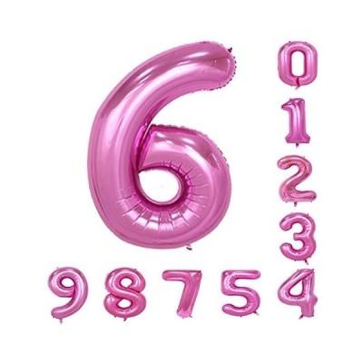 バルーン(0-9)40インチピンクの数字誕生日パーティーのアラビア数字6