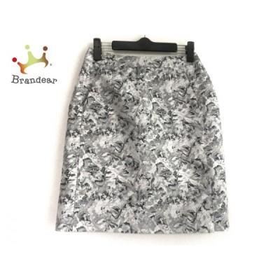 ルシェルブルー スカート サイズ38 M レディース グレー×ライトグレー×ダークグレー 花柄   スペシャル特価 20200419
