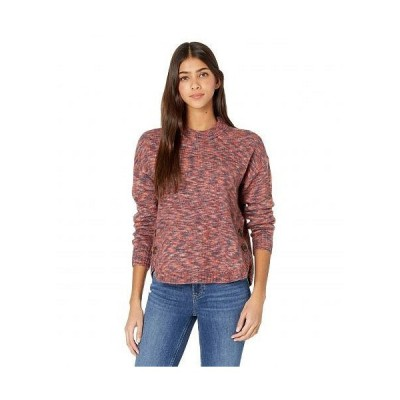 Madewell レディース 女性用 ファッション セーター Space Dye Demi Side Button Pullover - Space Dye Sangria