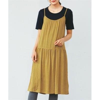 【大きいサイズ】 レーヨン100%うすカル柔らかキャミワンピース ワンピース, plus size dress