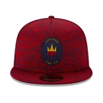 ニューエラ 帽子 アクセサリー メンズ Chicago Fire 2020 On-field 59FIFTY Cap Red