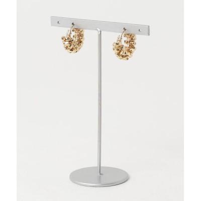 TONE / marinaJEWELRY/14kgf/GOLD square metal wrapped hoop pierced earring WOMEN アクセサリー > ピアス(両耳用)