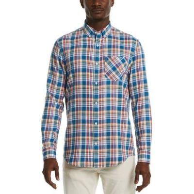 オリジナルペンギン メンズ シャツ トップス Men's Plaid Long-Sleeve Button-Down Shirt