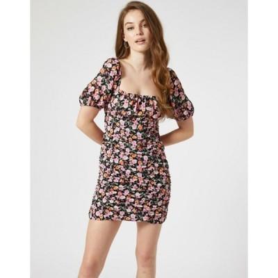 ミスセルフフリッジ レディース ワンピース トップス Miss Selfridge ruched mini dress in floral